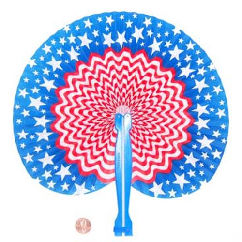 Paper Patriotic Folding Fan (24 total fans in 2 bags) 26¢ each