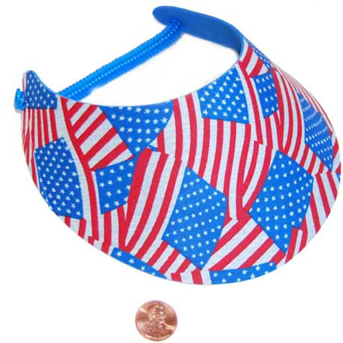 Patriotic Foam Visor (24 total foam visors in 2 bags) 45¢ each