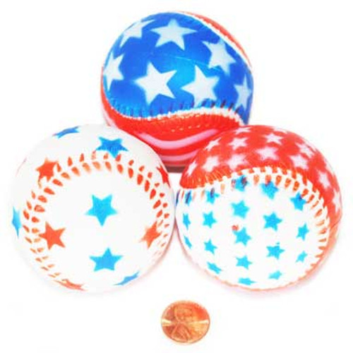 Foam Patriotic Baseballs (24 total balls in 2 bags) $1.03 each