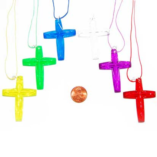 Plastic Cross Necklaces
