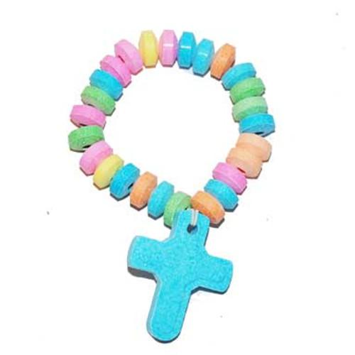 Candy Bracelet with Cross
