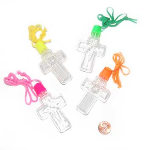 Cross Sand Art Bottle Necklaces