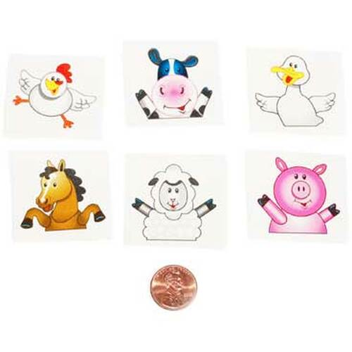 Farm Animal Tattoos (144 total tattoos in 2 bags) 5¢ each