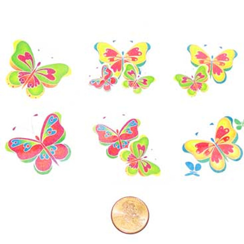 Butterfly Temporary Tattoos (144 total tattoos in 2 bags) 5¢ each