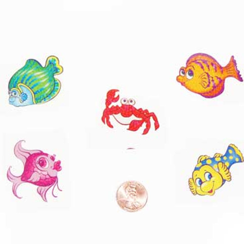 Tropical Fish Temporary  Tattoos (144 total tattoos in 2 bags) 5¢ each