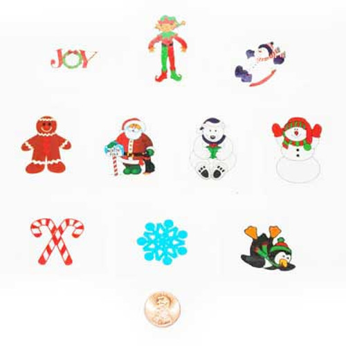 Glitter Holiday Removable Tattoos