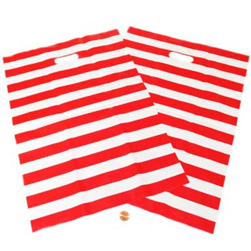 Red and White Striped Carnival Treat Bags