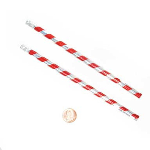 Candy Cane Striped Pencils