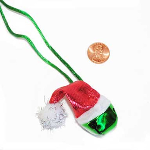 Santa Hat Jingle Bell Necklace