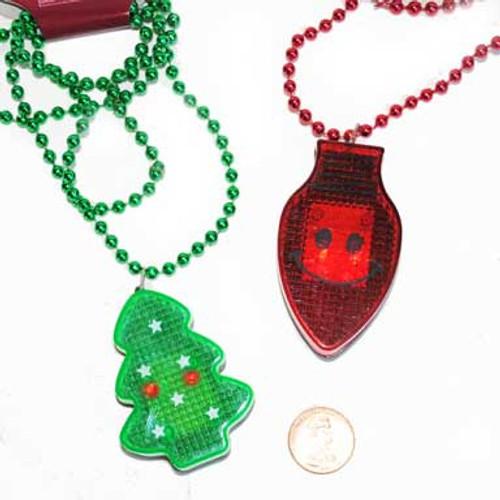 Flashing Holiday Necklaces