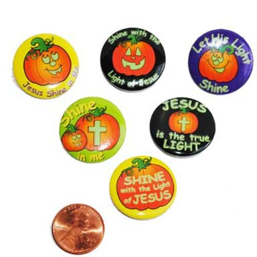 Religious Pumpkin Buttons