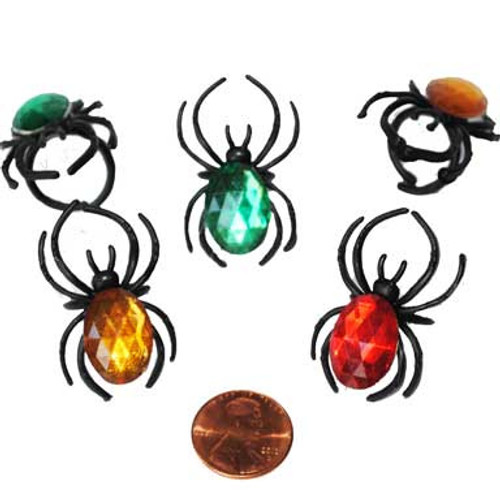 Spider Rings with Gems - Wholesale