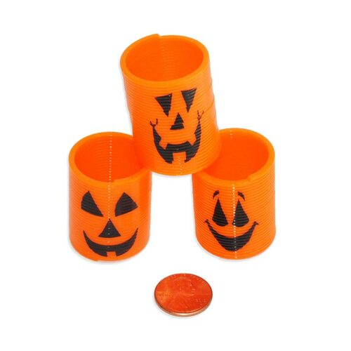 Mini Pumpkin Springs Wholesale Halloween Toy