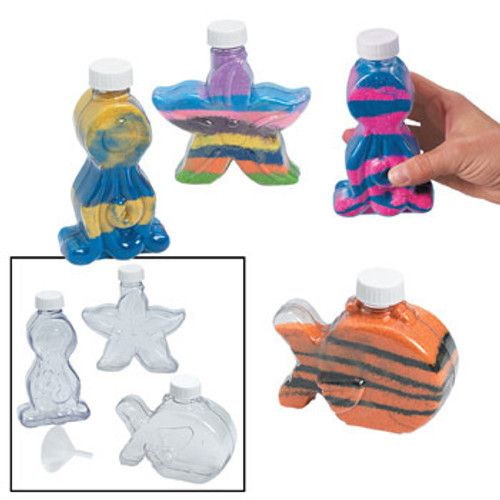 Sea Life Sand Art Bottle