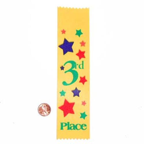 Third Place Satin Award Ribbon