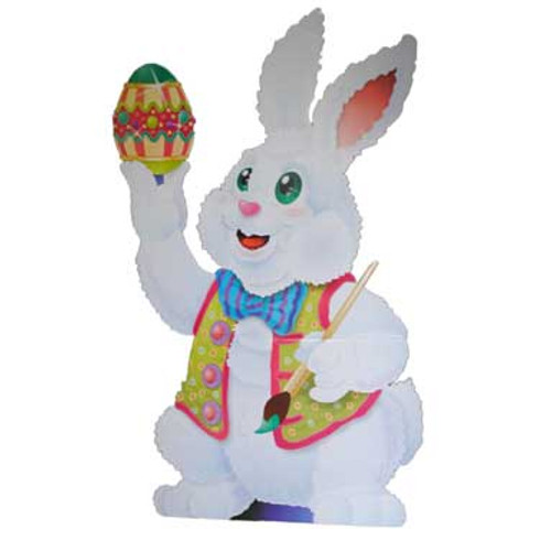 Cardboard Easter Bunny Stand Up 5 Feet Tall!