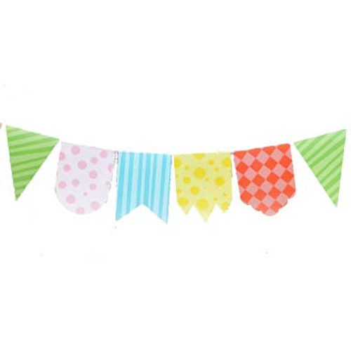 Cute Print Pennant Banner Decoration