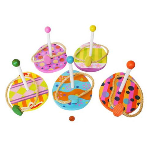 Wooden Easter Egg Ring Toss Set