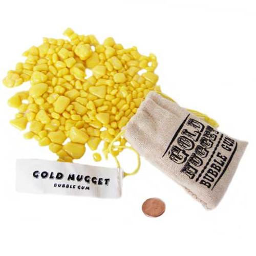 Gold Nugget Bubble Gum Burlap Sacks