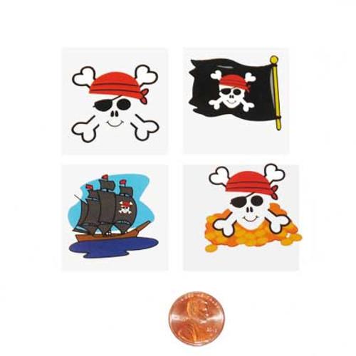 Pirate themed kids temporary tattoos
