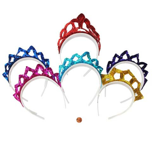 Brightly Colored Sequin Tiaras