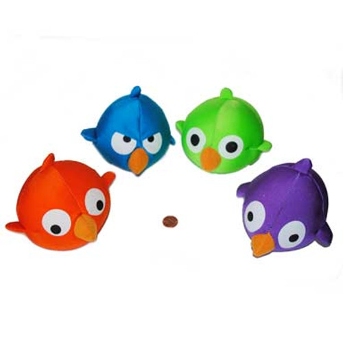 Crazy Birds Stuffed Ball Pillows