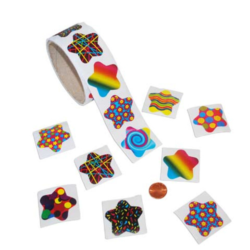 Funky Star Sticker Roll
