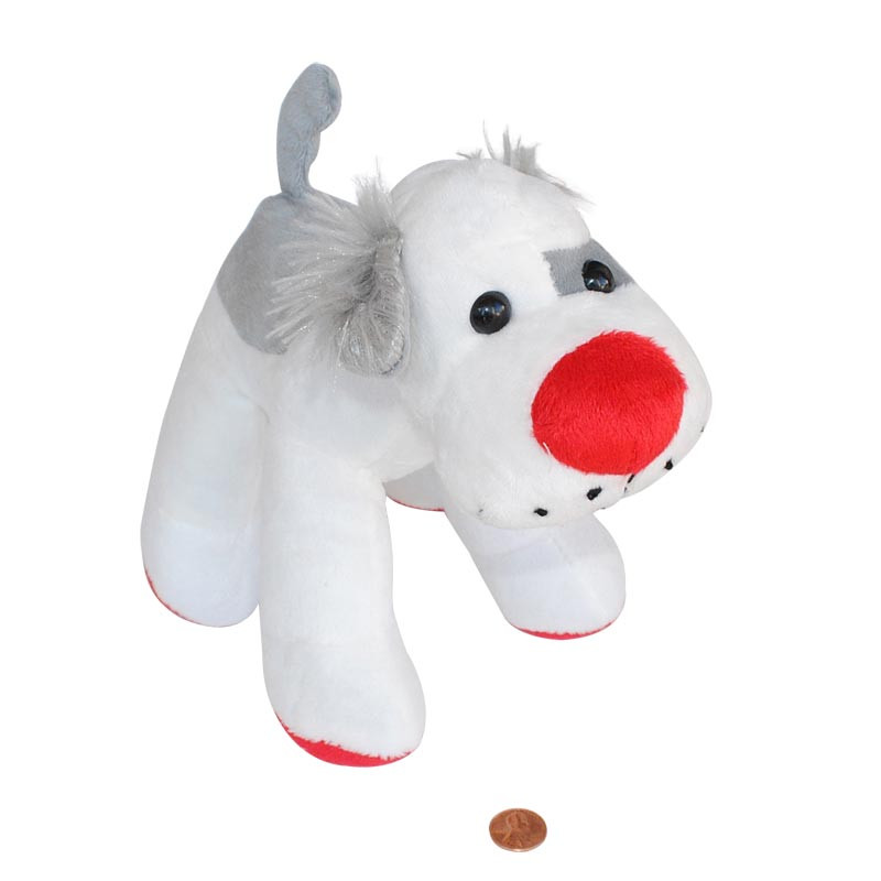 Super Soft Stuffed Animals For Babies, Red Nose Stuffed Dog Carnival Top Prize