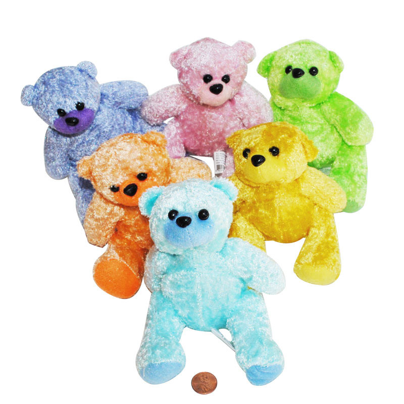 Super Soft Stuffed Animals For Babies, Plush Colorful Teddy Bears Adorable Novelty Prize