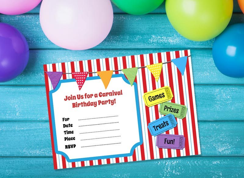 Carnival Party Invitations Free Download