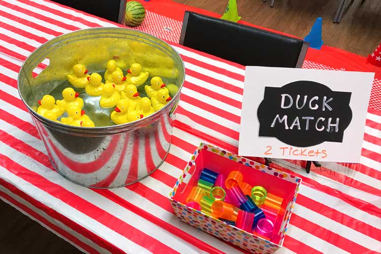 duck matching carnival game for nursing home