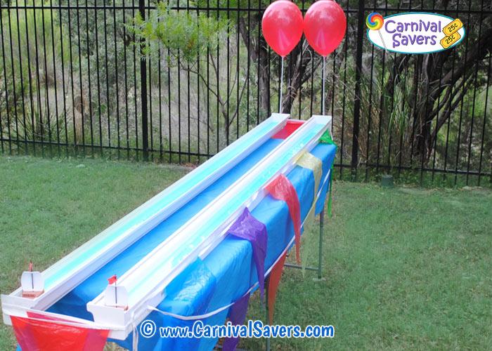 Rain Gutter Regatta School Carnival Game Idea Toy Boat