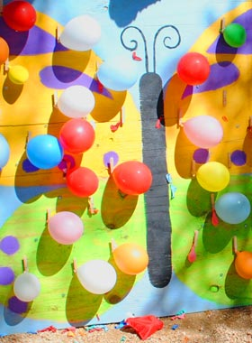 Springtime Balloon Pop Carnival Game