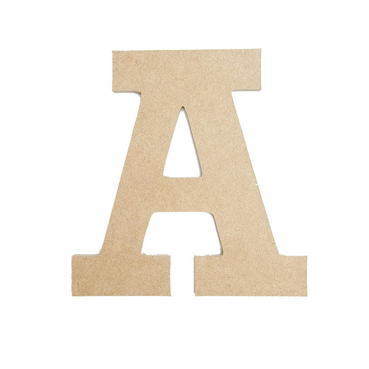 Rockwell Font Unfinished Wooden Craft Letters & Numbers, BAC Home