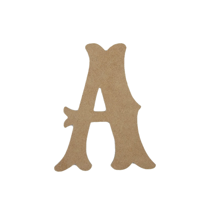 Circus Font Unfinished Wooden Craft Letters, BAC Home