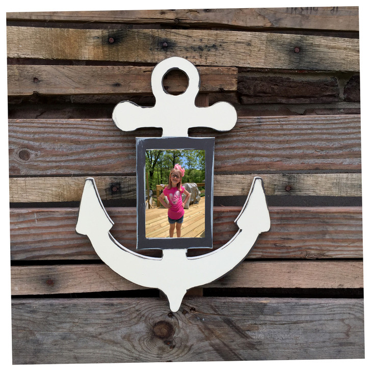 Painted Anchor Wooden Picture Frame