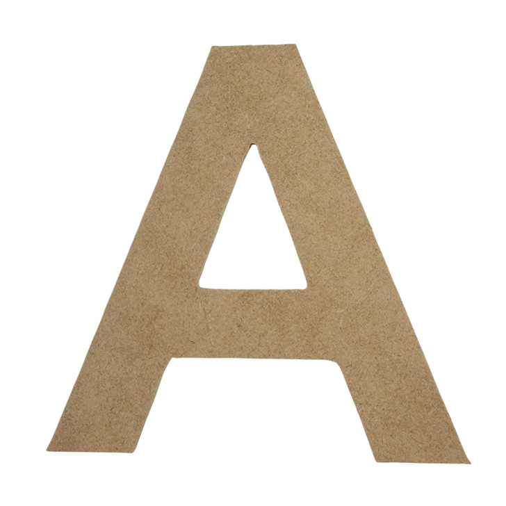 Arial Font Unfinished Wooden Craft Letters & Numbers, BAC Home
