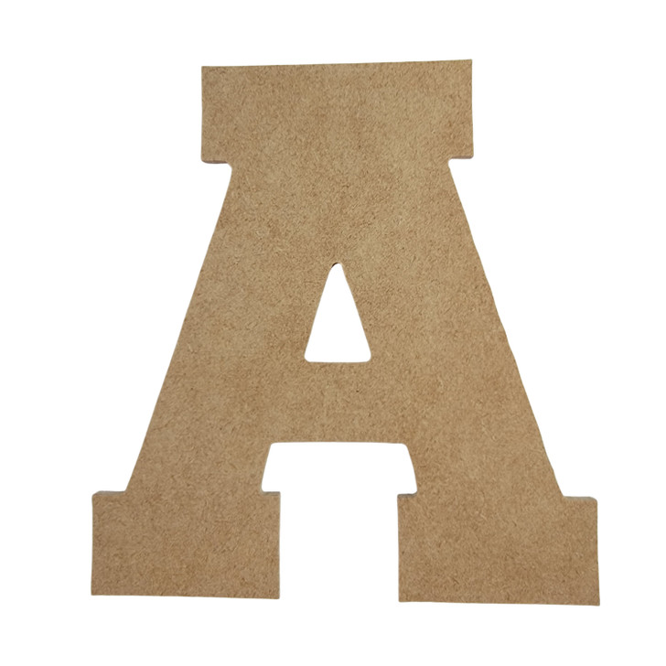 Collegiate Font Unfinished Wooden Craft Letters & Numbers, BAC Home