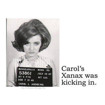 """3"""" x 4"""" Hi-Gloss Sticker  They use REAL vintage mugshots and add their own version of sass for the perfect gift!"""