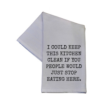 Driftless Studios - I Could Keep This Kitchen Clean If.. 16x24 Cotton Hand Towel