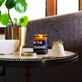 NaturalAnnie Essentials - Be The Change! Soy Candle 9oz - Chilli Pepper & Mandarin