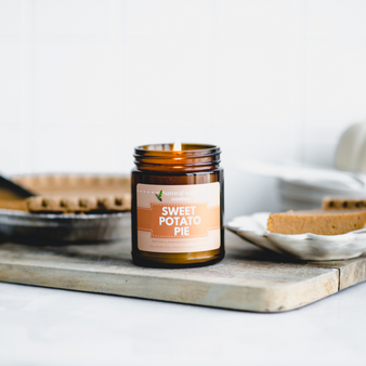 NaturalAnnie Essentials - SWEET POTATO PIE Scented Soy Candle - 4oz