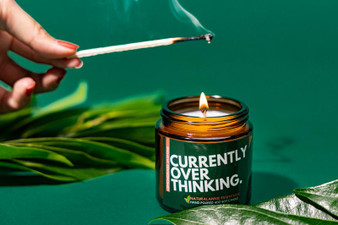 NaturalAnnie Essentials - [LEMONGRASS & JASMINE] Currently Overthinking Soy Candle 4oz