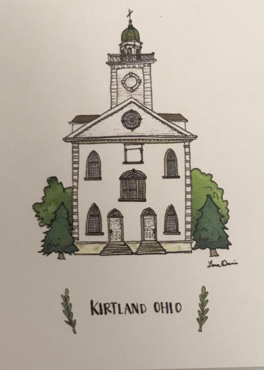 Kirtland Ohio Temple Illustration 5x7
