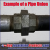 Example of a pipe union