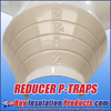 """P-Traps marked as """"Reducers"""" will have reducing cones which can be cut to match the insulation thickness used on the pipe.  For example a 3 x 2 (Reducer) can be used on 3 x 1/2, 3 x 1, 3 x 1-1/2, and 3 x 2."""