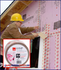 Installation of Owens Corning JointsealR tape on exterior Foamular XPS Board