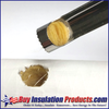 Easy Grip Hole Cutter carving out Fiberglass Pipe Insulation to insert Pipe Insulation Support Plug