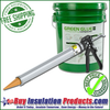 Green Glue Noiseproofing Compound is dispensed from 5 Gallon Buckets with a Green Glue Dispensing Applicator.