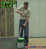 Using the Green Glue Dispensing Gun to install Green Glue Noiseproofing Compound out of 5 gallon buckets.
